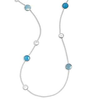 "IPPOLITA - Sterling Silver Wonderland Mixed Multi Stone Station Necklace, 40"""