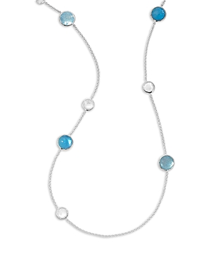 Ippolita Sterling Silver Wonderland Mixed Multi Stone Station Necklace, 40-Jewelry & Accessories