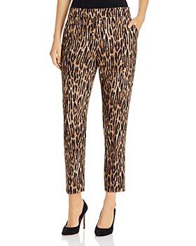 T Tahari - Animal Print Cropped Pants