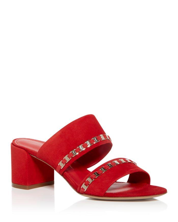 Salvatore Ferragamo Women's Trabia Embellished Block Heel Slide Sandals     Bloomingdale's