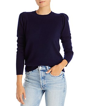 AQUA - Puff-Sleeve Cashmere Sweater - 100% Exclusive