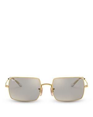 Ray-Ban Women's Rectangle Photochromic Mirror Sunglasses, 54mm