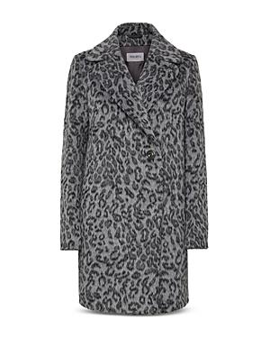 Cinzia Rocca Asymmetric Leopard Print Coat