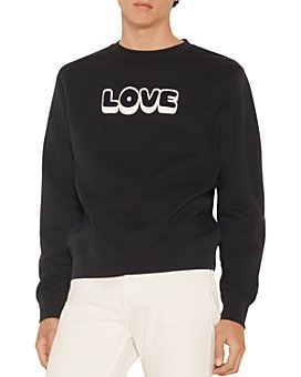 Sandro - Embroidered Love Crew Sweatshirt