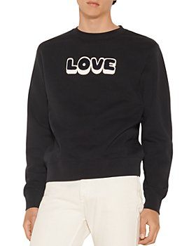 Sandro - Embroidered Love Crew Sweatshirt