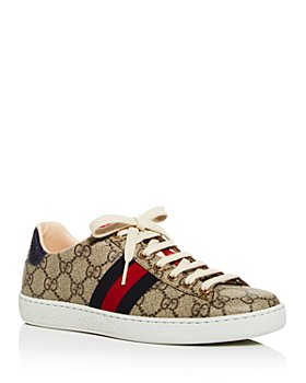 Gucci - Women's Ace GG Supreme Low Top Sneakers
