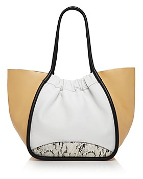 Proenza Schouler - Extra Large Ruched Color Block Leather Tote