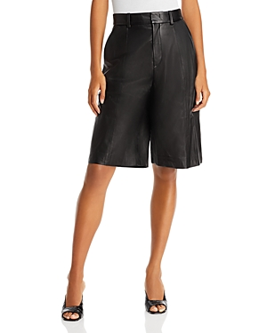 Vince Leather Shorts-Women