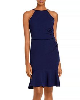 AQUA - Ruffle Hem Dress - 100% Exclusive