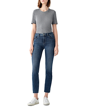 1961 Mara Mid Rise Ankle Straight Leg Jeans in Chancery