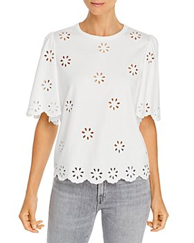 Rebecca Taylor - Embroidered Eyelet Top