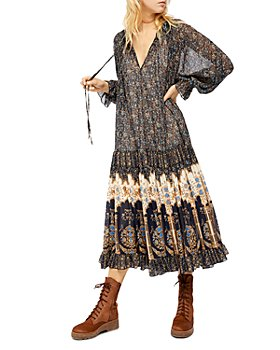 Free People - Feeling Groovy Printed A Line Dress