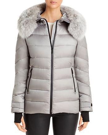Maximilian Furs - Quilted Fur Trim Down Coat - 100% Exclusive