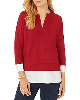 Foxcroft - Contrast Hem Sweater