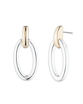 Ralph Lauren - Two-Tone Doorknocker Drop Earrings