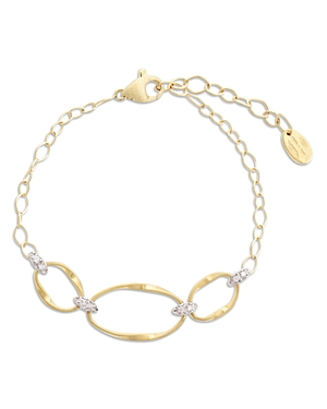 Marco Bicego 18K Yellow Gold Onde Diamond Three Station Bracelet-Jewelry & Accessories