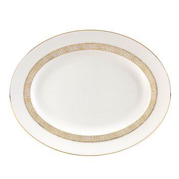 "Wedgwood - ""Gilded Weave"" Oval Platter, 13"""