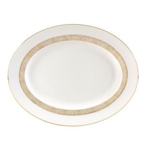 Vera Wang Wedgwood Gilded Weave Oval Platter, 13
