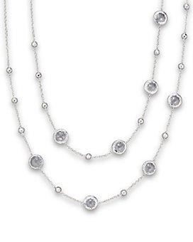 "IPPOLITA - Sterling Silver Rock Candy Mini Lollipop Necklace in Clear Quartz, 37"""