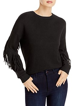 AQUA - Knit Fringe Sleeve Sweater - 100% Exclusive