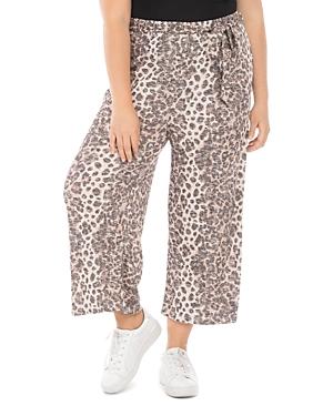 Plus Size Doris Leopard Print Cropped Pants