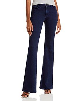 J Brand - Valentina High Rise Flare Leg Jeans in Dash
