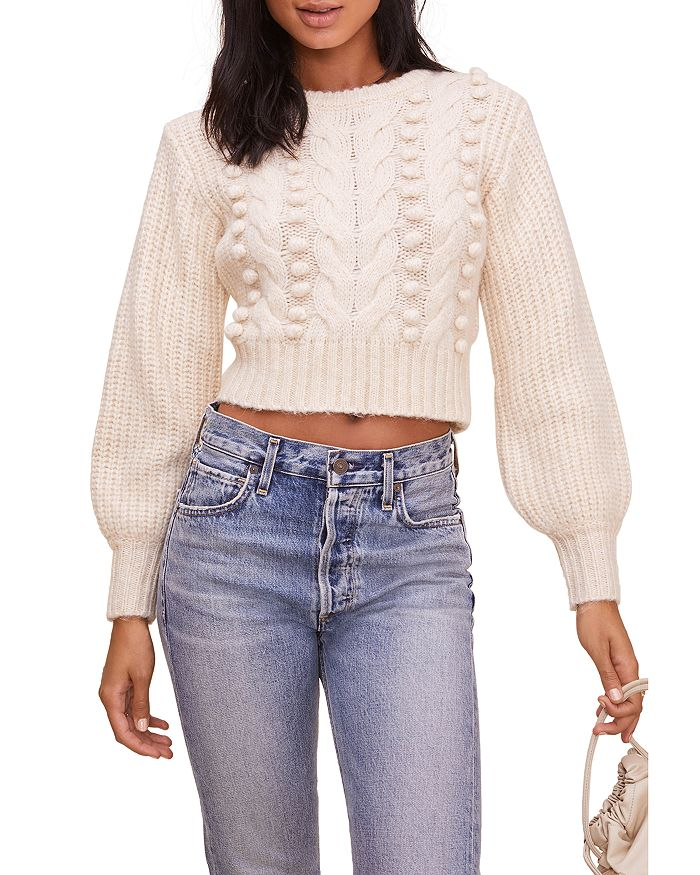 ASTR the Label - Tina Cropped Cable Knit Sweater - 100% Exclusive