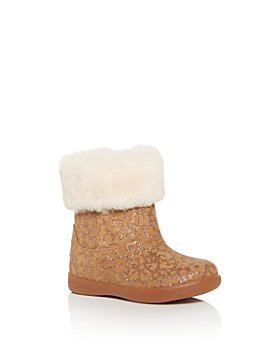 UGG® - Girls' Jorie II Glitter Leopard Print Booties - Walker, Toddler