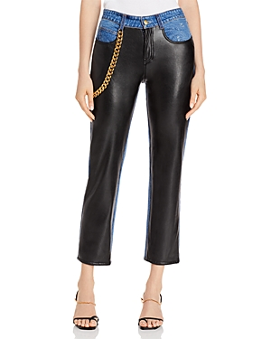 Melling Faux-Leather Jeans