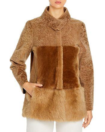 Maximilian Furs - Reversible Paneled Shearling Coat