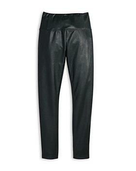 AQUA - Girls' High Waist Faux Leather Leggings, Big Kid - 100% Exclusive