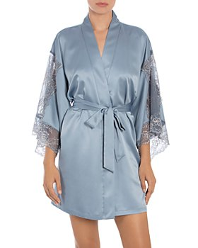 In Bloom by Jonquil - Lace Sleeve Wrap Robe