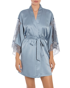 In Bloom by Jonquil Lace Sleeve Wrap Robe-Women