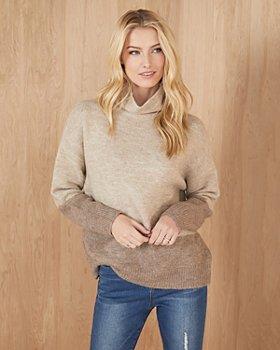 Karen Kane - Color Block Turtleneck Sweater