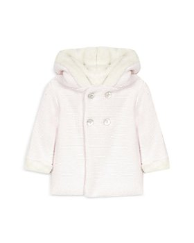 Tartine et Chocolat - Girls' Hooded Coat With Faux Fur Trim - Baby