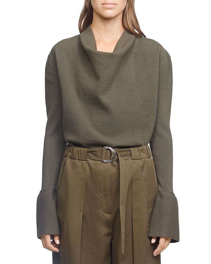 3.1 Phillip Lim - Military Rib Cowl Neck Top