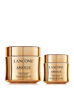 What It Is: A limited-edition set featuring a facial moisturizer with a unique, transforming texture that visibly reduces fine lines and wrinkles while rejuvenating skin with firmness, radiance and 24-hour hydration. Absolue, inspired by the life power of the rose. Reveal a more radiant-looking skin. Set Includes: - Absolue Revitalizing & Brightening Soft Cream with Grand Rose Extracts 2 oz. (Full Size) - Absolue Revitalizing & Brightening Soft Cream with Grand Rose Extracts 1 oz. What It Does: