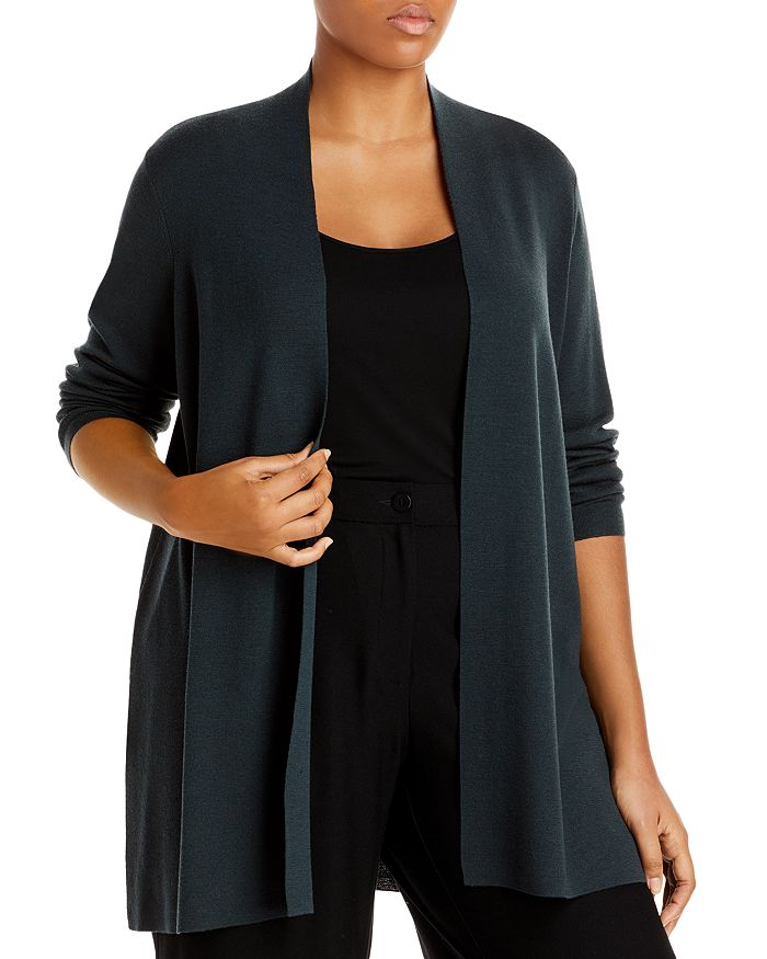 Eileen Fisher Plus - Plus Open Front Cardigan