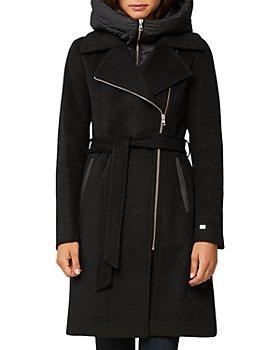 Soia & Kyo - Perle Mixed Media Hooded Coat