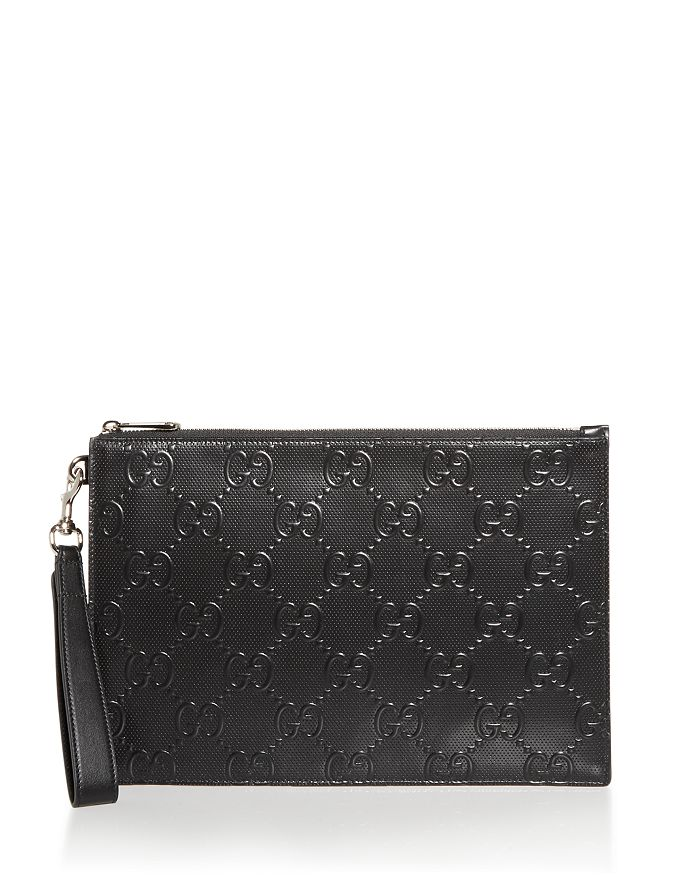 Gucci - GG Embossed Leather Pouch