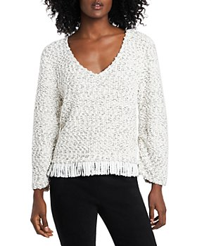 VINCE CAMUTO - Fringe Trim Sweater