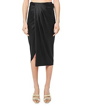 Helmut Lang - Ruched Silk Blend Skirt