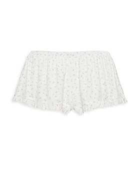 Eberjey - Bloom Floral Print Ruffle Shorts