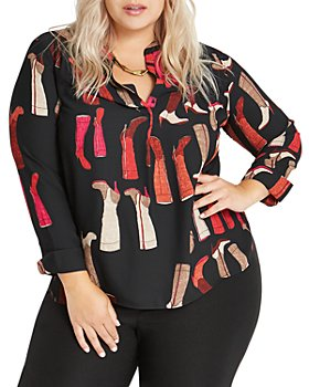 NIC and ZOE Plus - Plus These Boots Printed Shirt