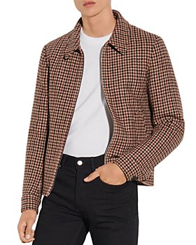 Sandro - Camille Houndstooth Wool Jacket