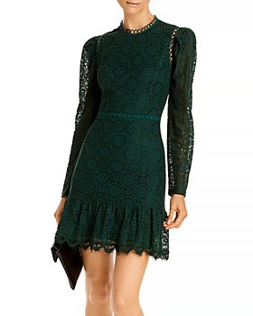 AQUA - Mock Neck Lace Dress - 100% Exclusive