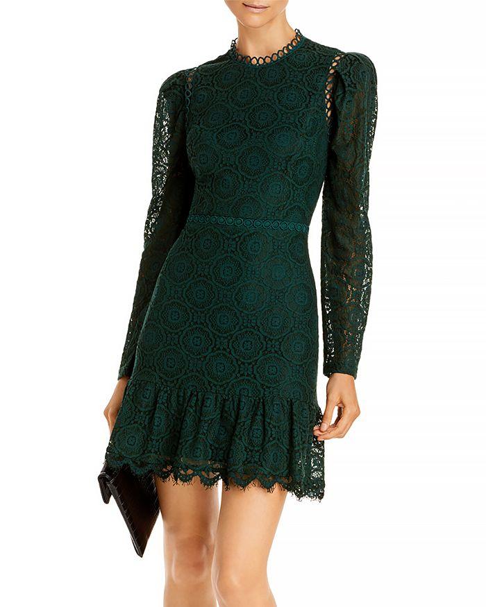 AQUA - Mock Neck Lace Dress - 100% Exclusive