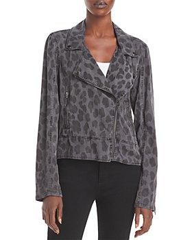 BLANKNYC - Leopard Print Moto Jacket