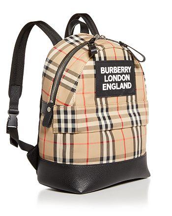 Burberry - Kids' Small Nico Check Backpack