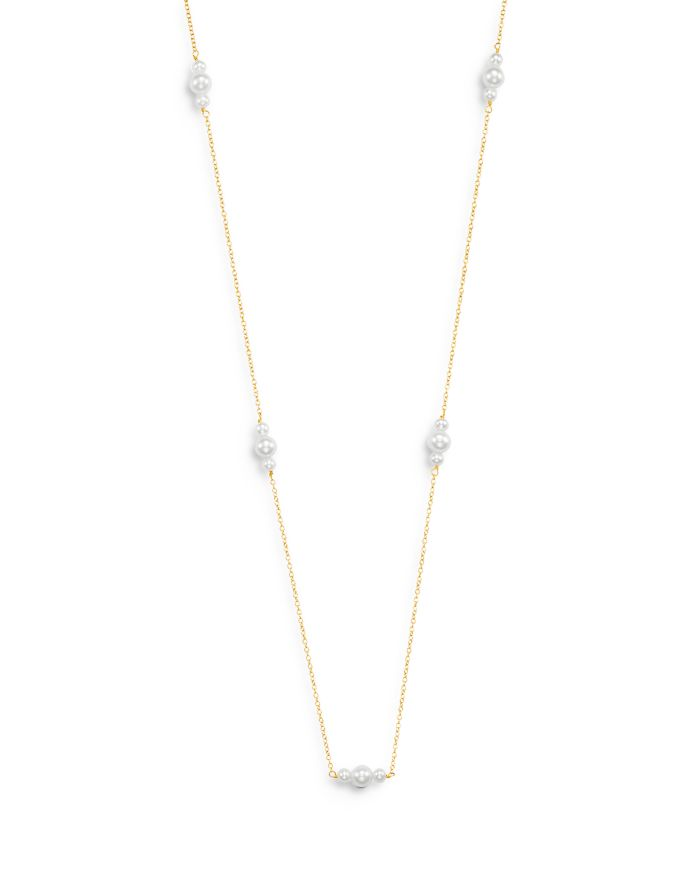 """Bloomingdale's Cultured Freshwater Pearl Station Necklace in 14K Yellow Gold, 22"""" - 100% Exclusive    Bloomingdale's"""